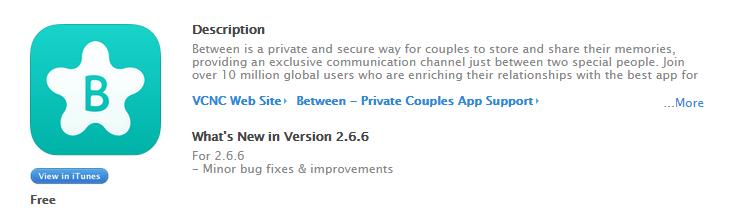 between情侶專用APP_iOS