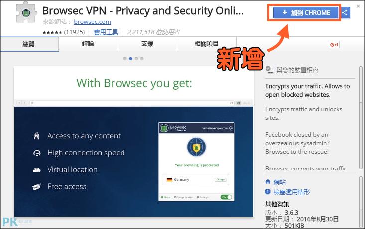 瀏覽器VPN外掛