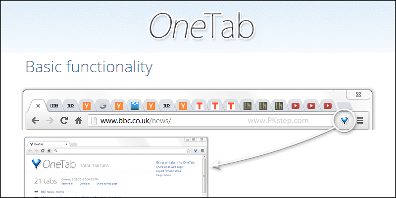 OneTab chrome