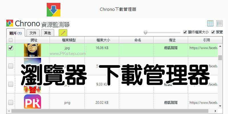 Chrono瀏覽器下載管理器!檔案批次下載與管理工具(Chrome擴充外掛)