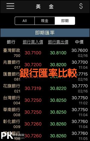 台灣匯率通App2