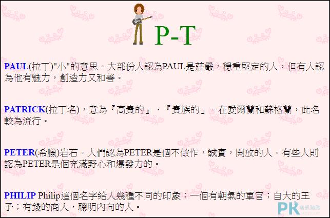 取英文名字網站3