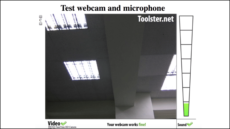 線上網路攝影機麥克風測試2