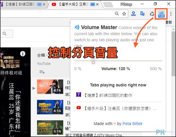 Chrome分頁音量設定2
