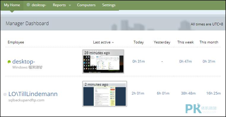 LumOffice電腦使用時間監控1