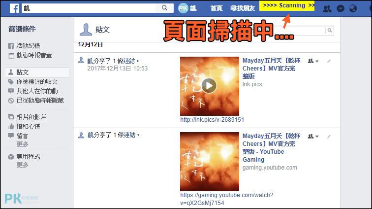 Social-Book-Post-Manager批次刪除fb貼文5