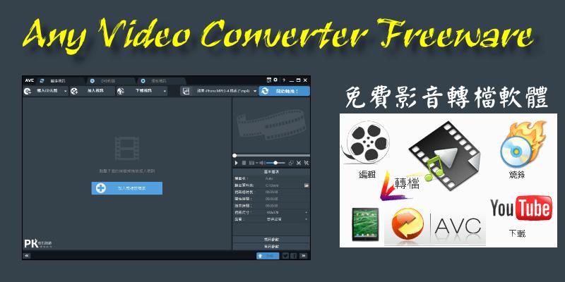 Any Video Converter(AVC)免費影音轉檔&編輯軟體!Mac、Windows下載與使用教學。