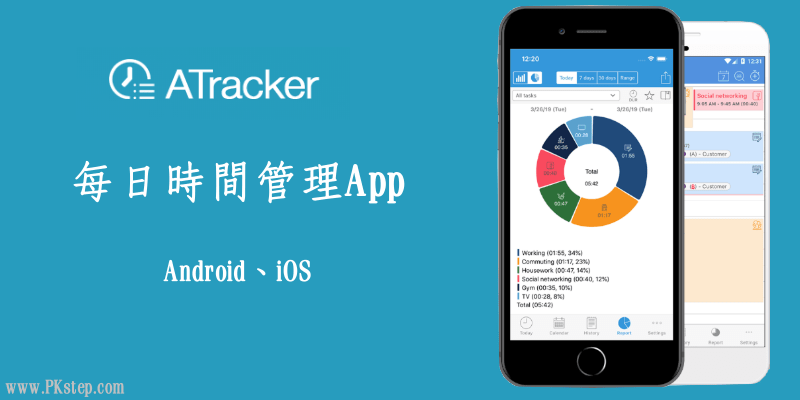 實用的「時間管理App」推薦!ATracker追蹤每日、每周活動所花費的時間。(Android、iOS)