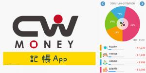 免費CWMoney雲端記帳App,電腦、手機同步查看和分析個人收支分配。 (iOS、Android)