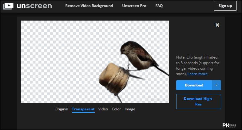 線上影片去背工具2