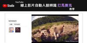 線上影片馬賽克工具-自動臉部模糊,用YouTube影片編輯器即可!教學