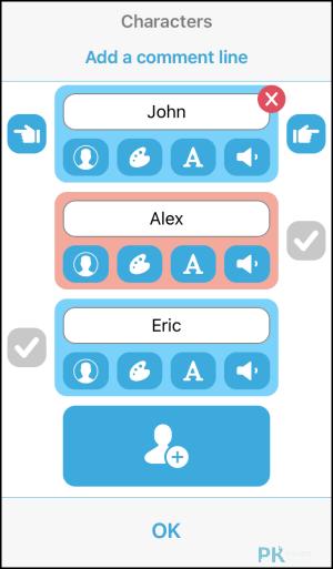 TextingStory製作正在聊天的影片App2