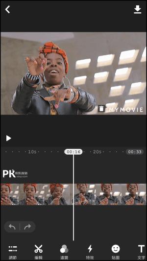 My-Movie影片加入音效配音和音樂App2