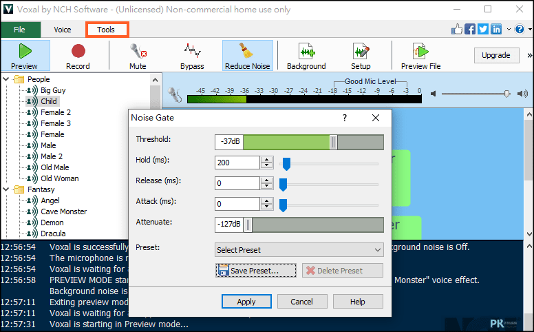 Voxal變聲軟體5