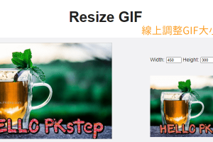 Resize GIF線上調整GIF圖片的大小-自訂長寬尺寸、等比例放大或縮小。