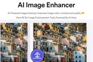 照片畫質差?就用AI Image Enlarge線上工具,一鍵增強圖片的色彩、對比度和銳度。