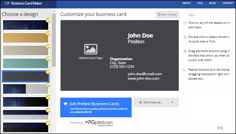 Business-Card-Maker線上名片產生器1