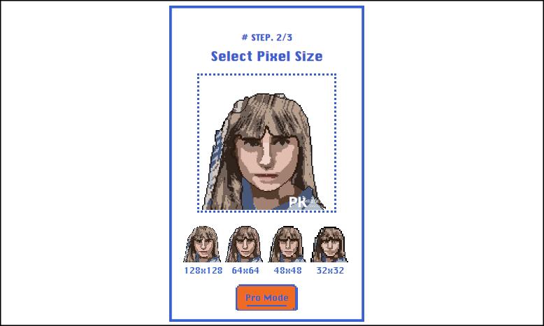 PixelMe線上圖片轉8bit網站3